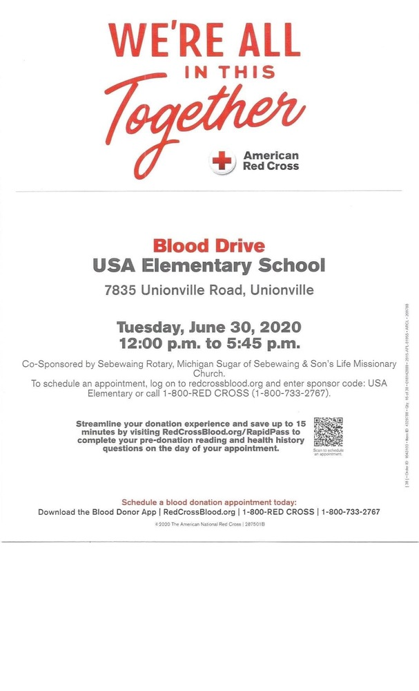 Blood Drive @ USA Elementary School